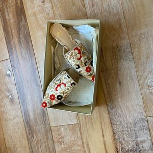 Embroidered Marc Fisher Flats
